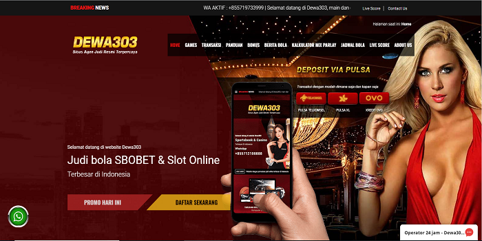Indonesia Trusted and Leading sbobet online Slot Betting Website